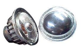 Fog Lamp Aluminium Reflectors And Clear Glass Lens